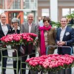 Prof. Dr. Felix Hilpert, Dr. Maria Fridrichs, Heinz-Gerhard Wilkens, Angelika Grau, PD Dr. Kay Friedrichs (v.l.n.r.), Patientinneninformationstag, Mammazentrum Hamburg