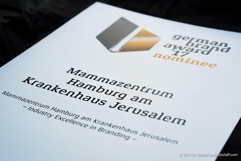 Nominierungsurkunde German Brand Award 2017